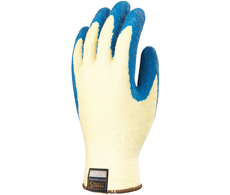 Coated sewn gloves